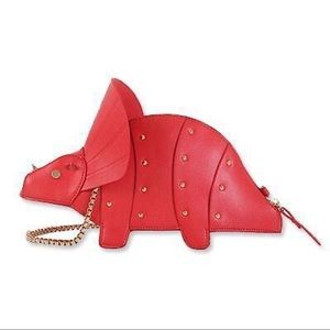 Adorable Red Triceratops dinosaur 🦕 handbag
